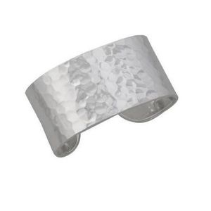 "STERLING SILVER 1.5"" HAMMERED CUFF"